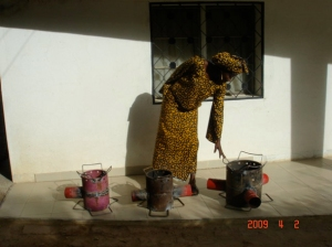 Holey Roket stoves in Chad