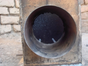 Front - briquette feed